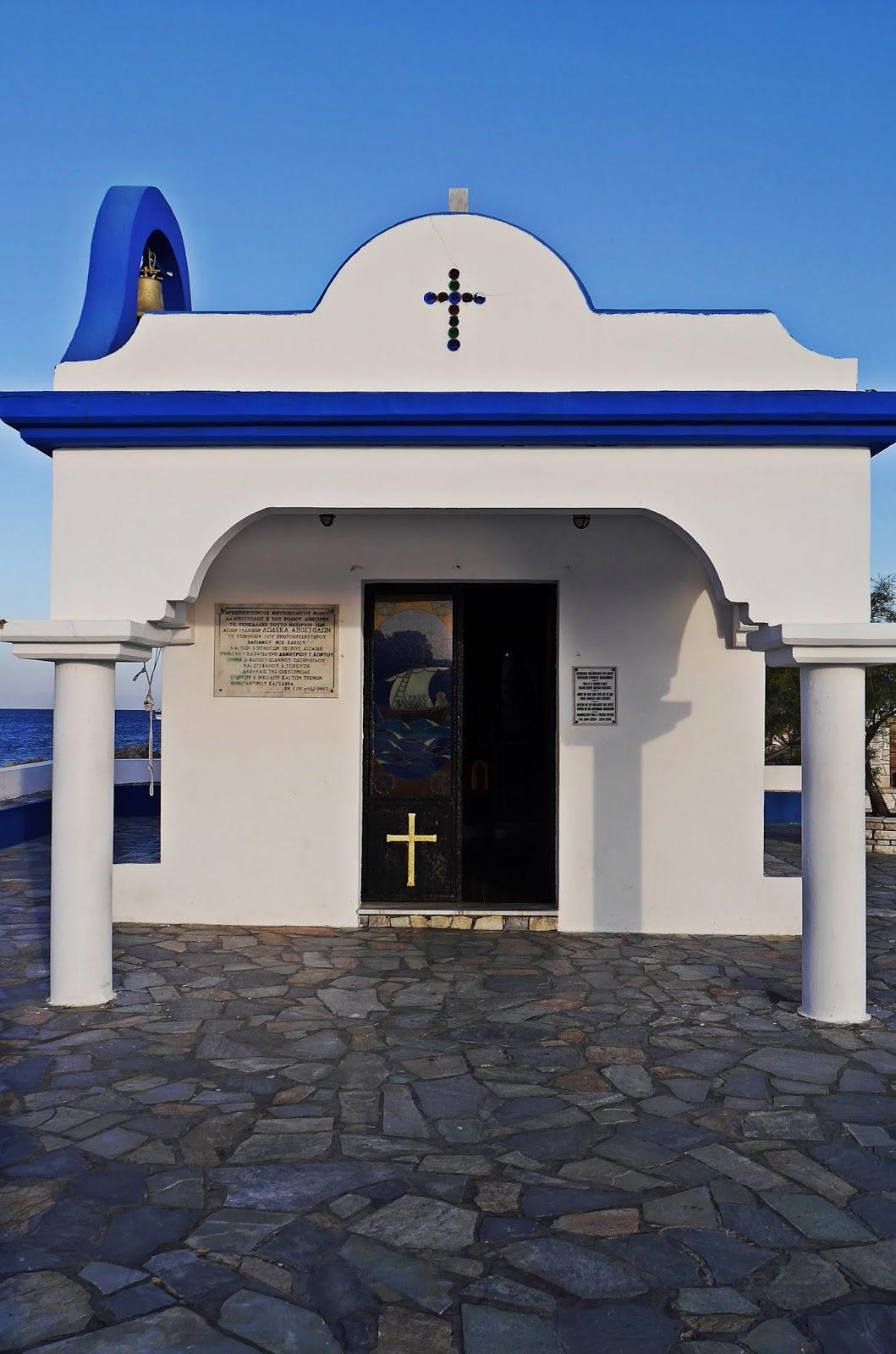 port świętego apostoła kościół prawosławny faliraki karyn blog modowy blogerka modowa podróż poślubna