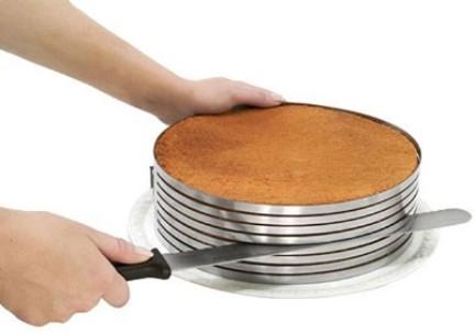kit pr tico para cortar bolos em fatias para rechear. Black Bedroom Furniture Sets. Home Design Ideas