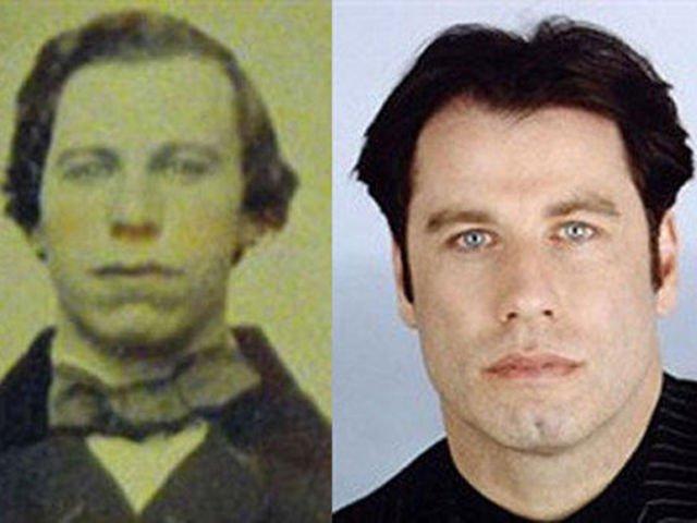 John Travolta and his 1800's counterpart!