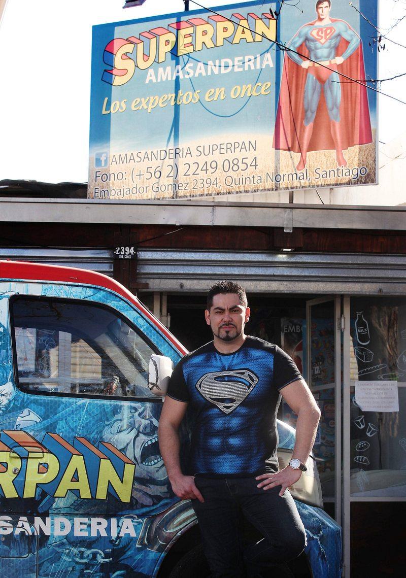 Superman se fue en mala con Superpan por la marca
