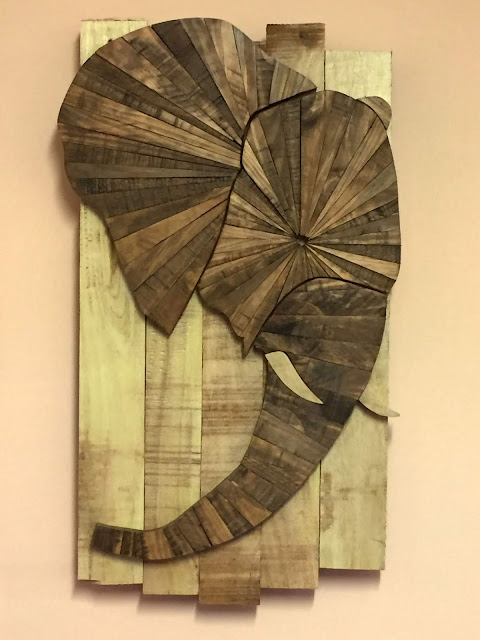 Elephant Wooden Wall Art made with Reclaimed Wood