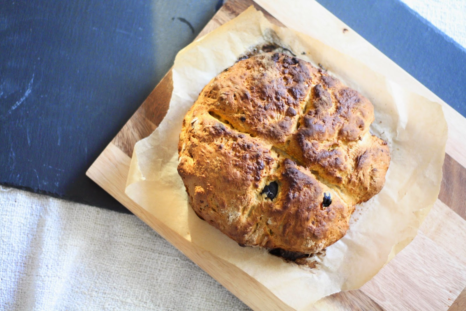 Pesto soda bread with pesto & olives recipe