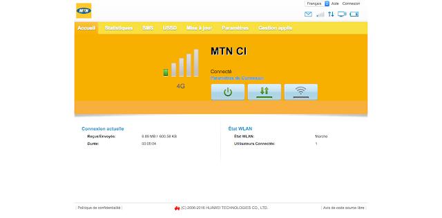 Comment changer le mot de passe du Wifi de MTN