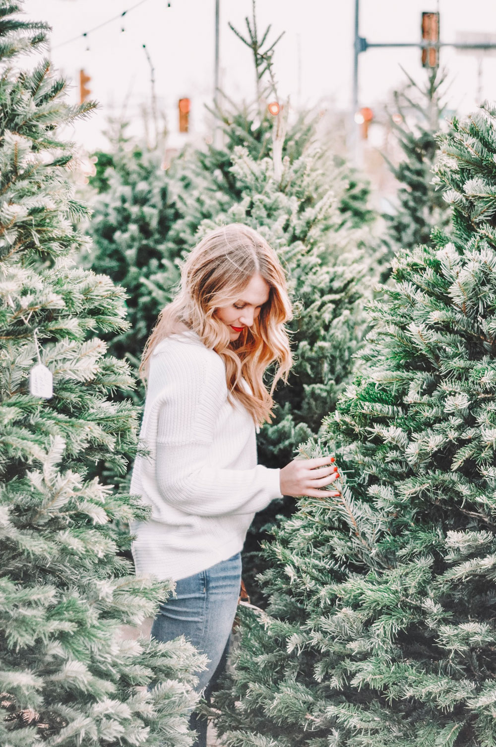 OKC Blogger Amanda Martin shops for live Christmas Trees at the Midtown Holiday Pop-Up Shops