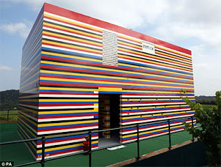 James May built the 20ft-tall Lego house