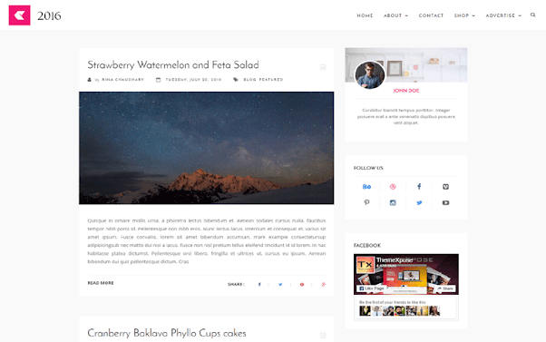 2016 Free Blogger Template