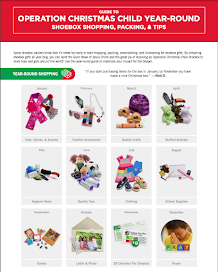 Operation Christmas Child Year Round Shopping and Tips Calendar