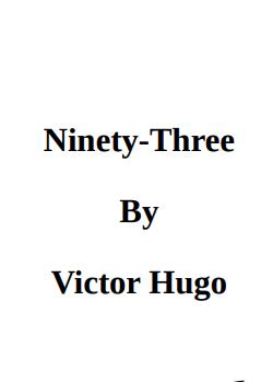 Ninty Three By Victor Hugo in pdf