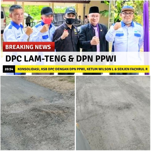 PPWI Kembali Temukan Proyek Diduga Asal Jadi di Lampung Tengah