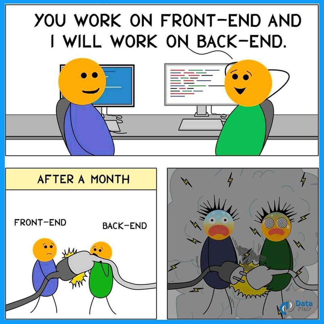 front-end and back-end memes