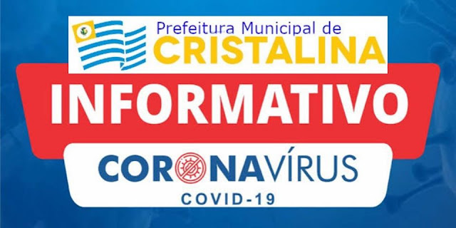 Boletim 14 sobre situação do coronavírus em Cristalina