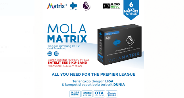 Receiver Mola Matrix KU Band Terbaru
