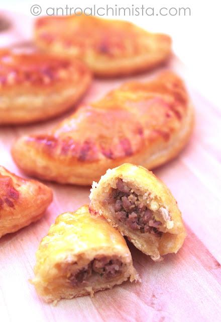Empanadas con manzo versione finger food