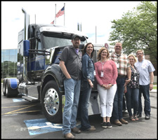Group with a new Kenworth W990