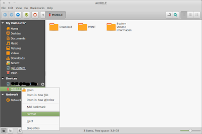 Cara Format Flash Disk di Linux Mint TANPA TERMINAL