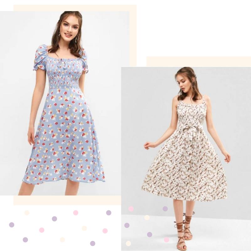 Looks lindos com vestidos florais