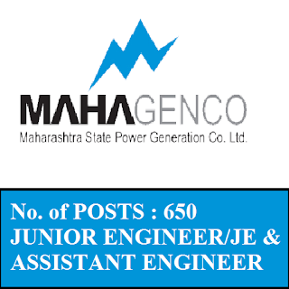 Maharashtra State Power Generation Company Limited, MAHAGENCO, Junior Engineer, JE, Assistant Engineer, Graduation, Maharashtra, freejobalert, Sarkari Naukri, Latest Jobs, Hot Jobs, mahagenco logo