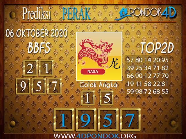 Prediksi Togel PERAK PONDOK4D 06 OKTOBER 2020