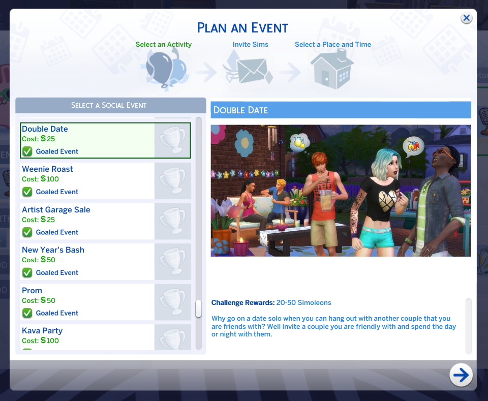 The sims 4: Double date MOD