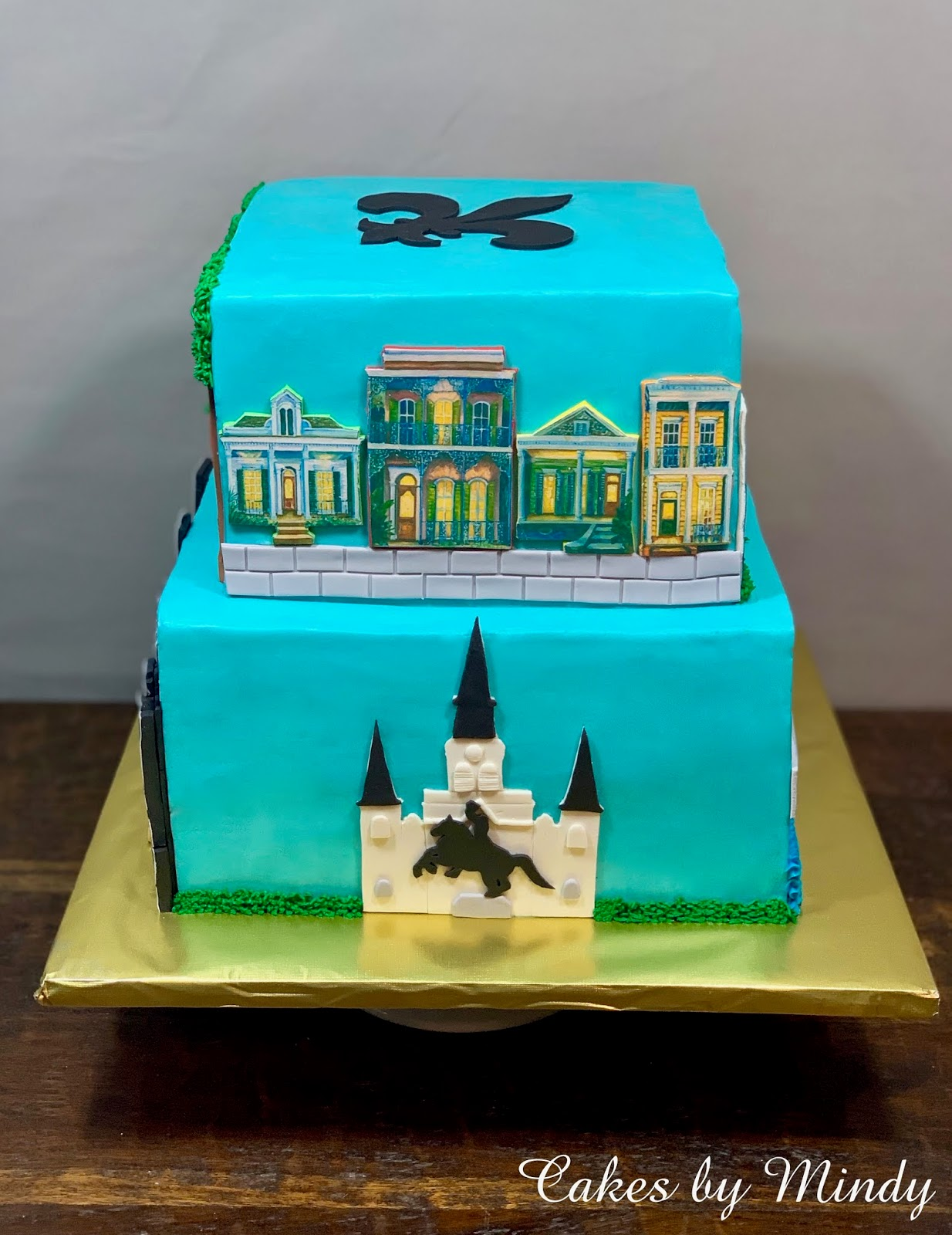 Amazing Cakes By Mindy New Orleans Birthday Cake 8 10 Personalised Birthday Cards Veneteletsinfo