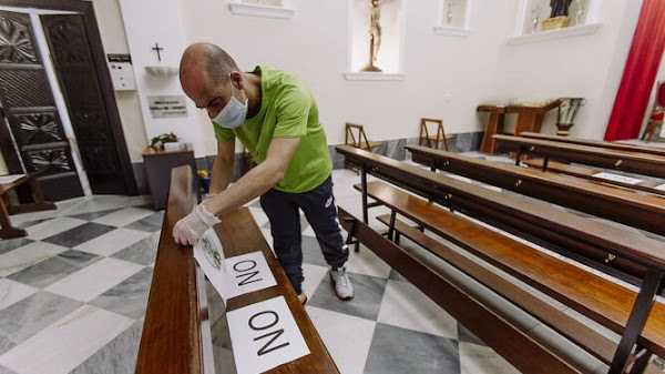 Coronavirus en Cádiz: La Fase 1/3 en las iglesias