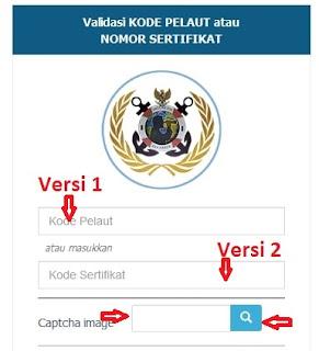 pelaut.dephub.go.id cek sertifikat pelaut