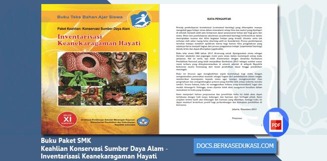 Buku Paket SMK Keahlian Konservasi Sumber Daya Alam - Inventarisasi Keanekaragaman Hayati
