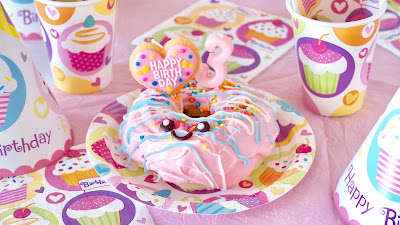 Donut Cake Easy and Kawaii 3rd Birthday Cake Decorating Idea for