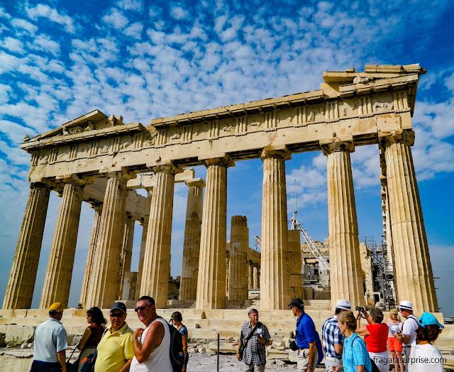 Parthenon, na Acrópole de Atenas