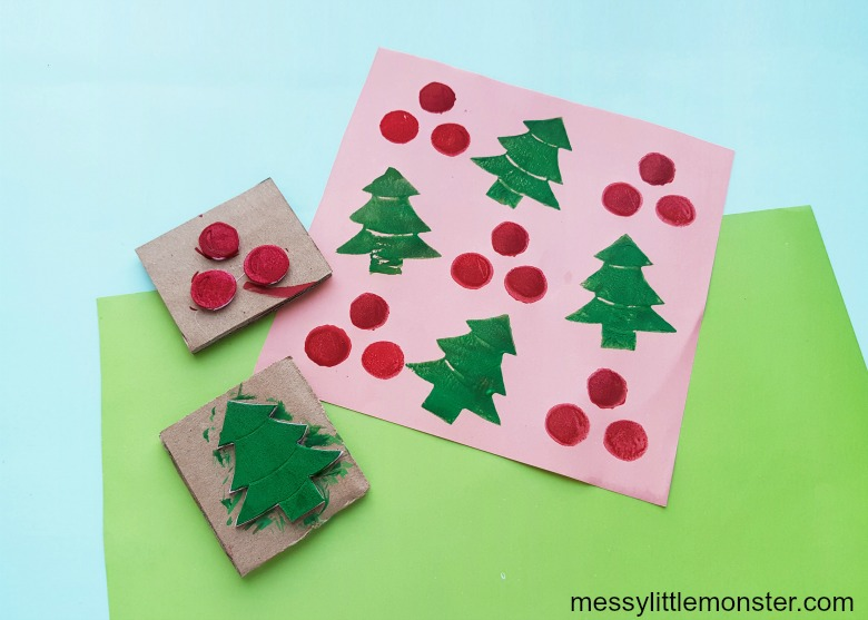 Make your own stamp wrapping paper for kids