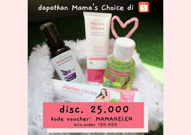 diskon mama's choice shopee