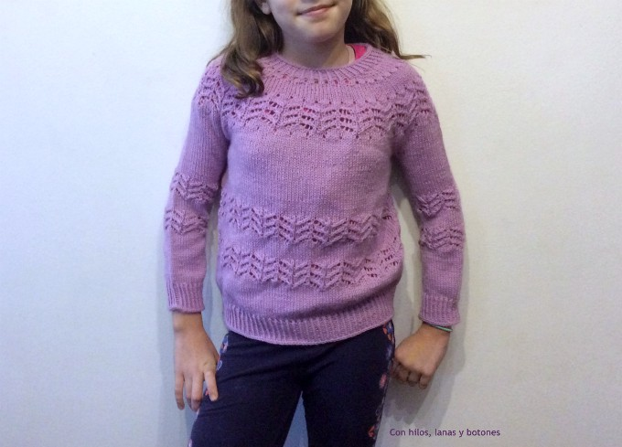 Con hilos, lanas y botones: Jersey Fento (patrón de Lola Dacosta)