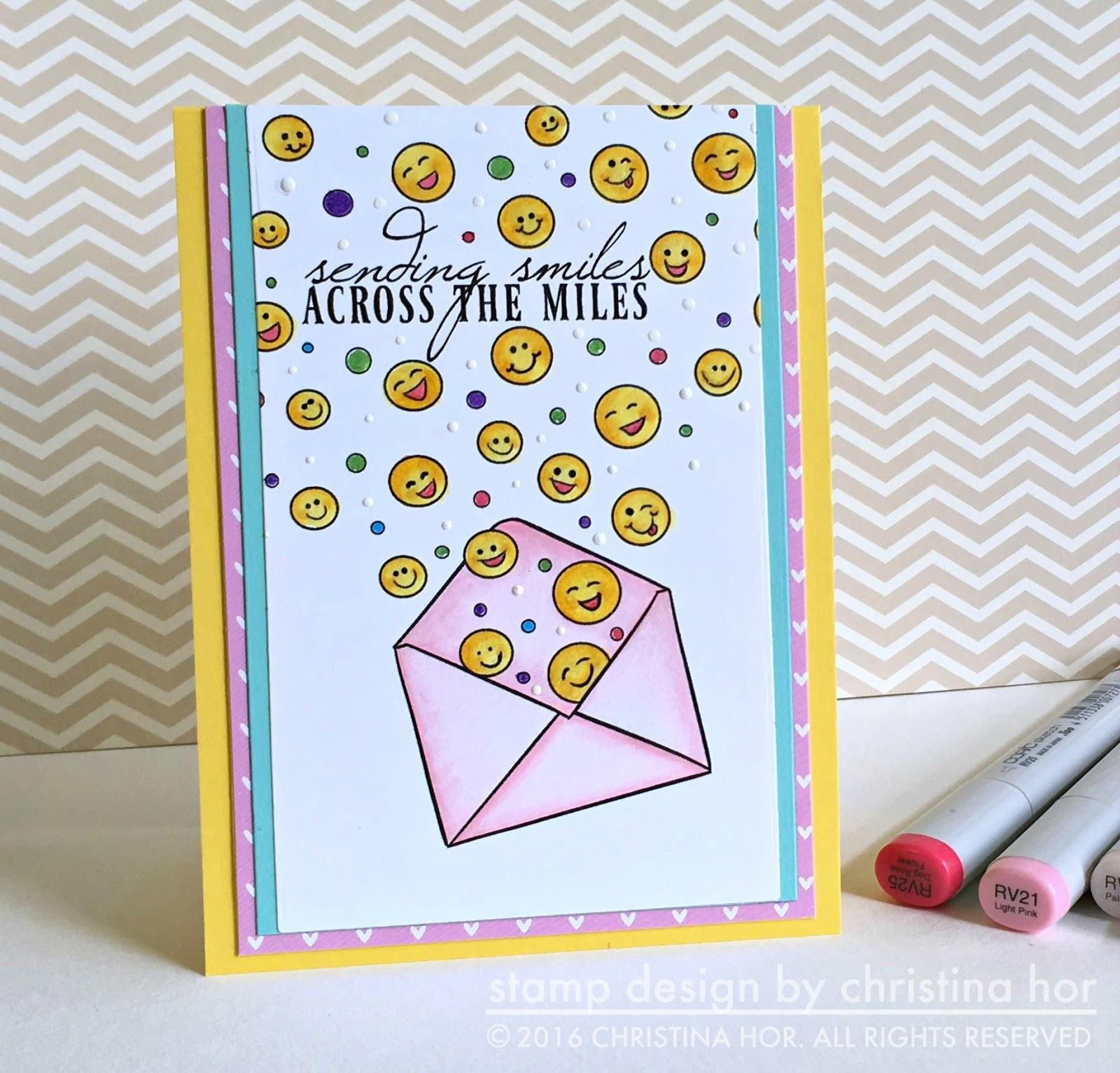 smiley handmade card