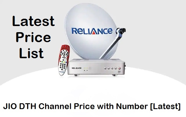 JIO DTH Channel List Price