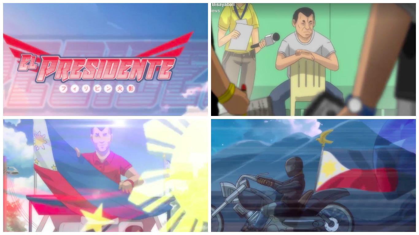 "Duterte featured in viral anime ""El Presidente"""