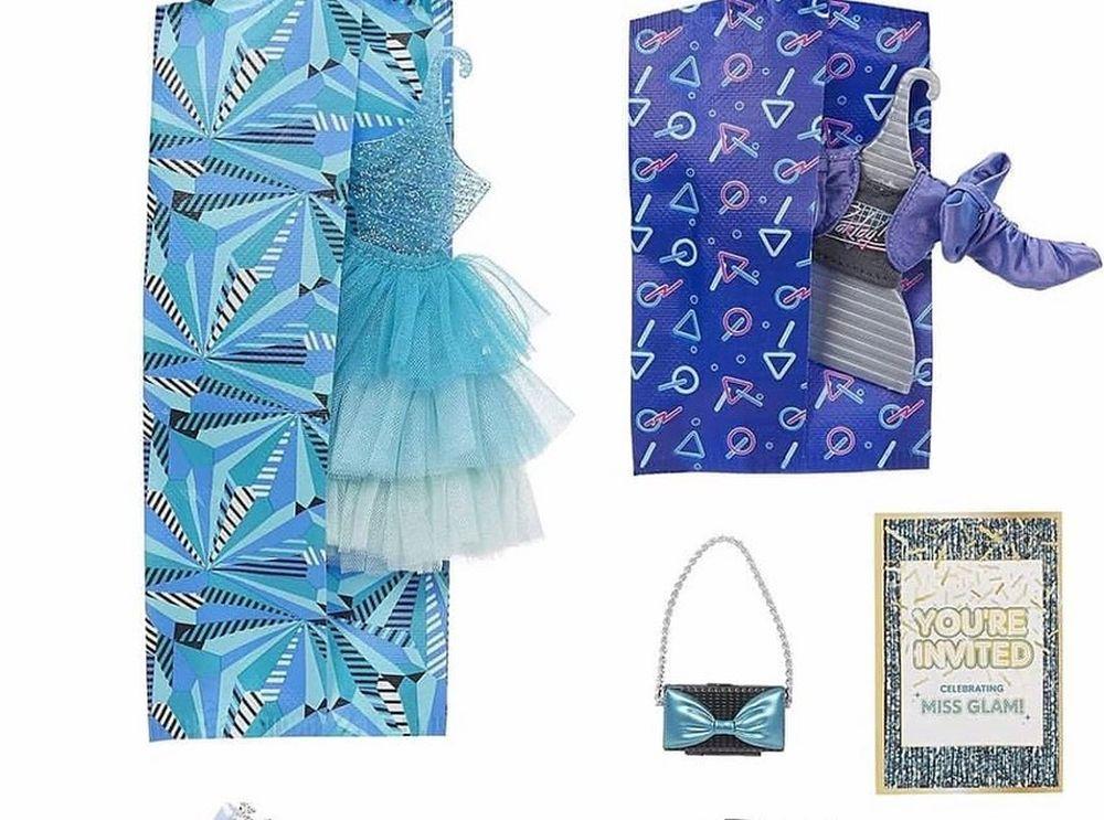 Сине-голубая одежда куклы LOL OMG Miss Glam