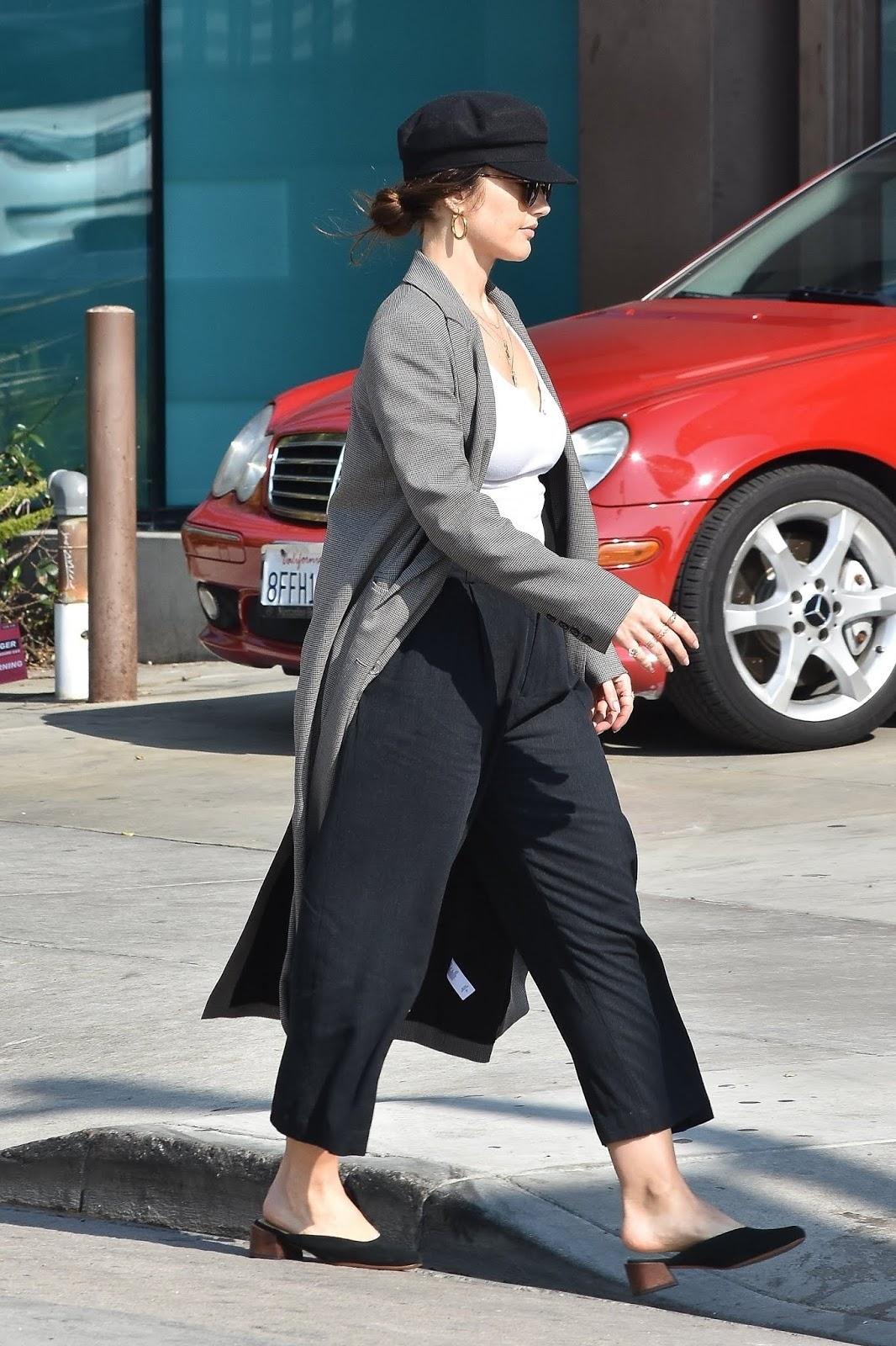 Minka Kelly at Nine Zero One salon in Beverly Hills - 01/29/2019