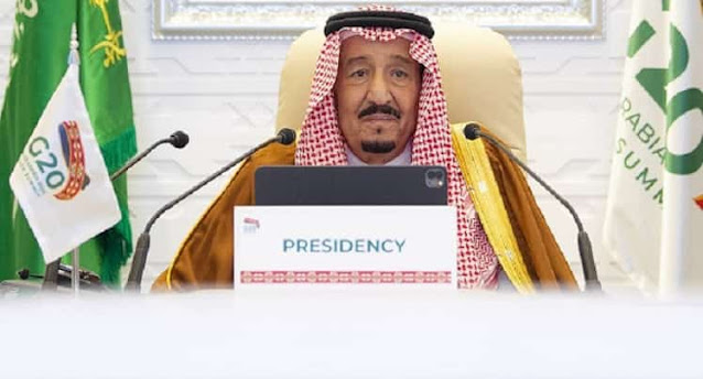 The Custodian of the Two Holy Mosques Saudi Arabia's King Salman at G20 Summit - Saudi-Expatriates.com