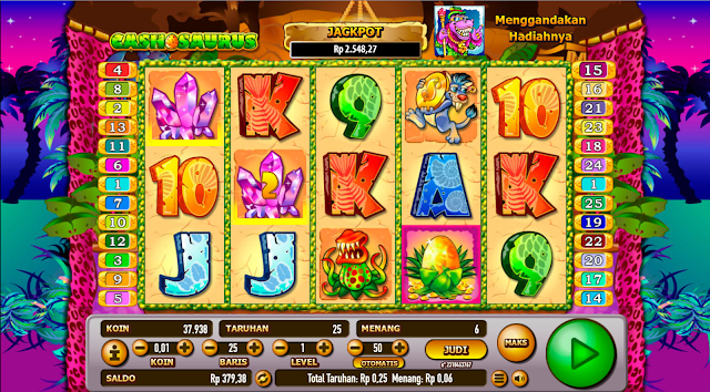 OKE77.COM AGEN SLOT GAMES CASHOSAURUS GOLD DELUXE