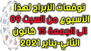 توقعات الأبراج لهذا الأسبوع من السبت 09 الى الجمعة 15 كانون الثاني-يناير 2021