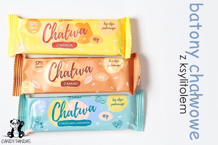 Baton / chałwa waniliowa, kakaowa, z orzechami laskowymi – KruKam