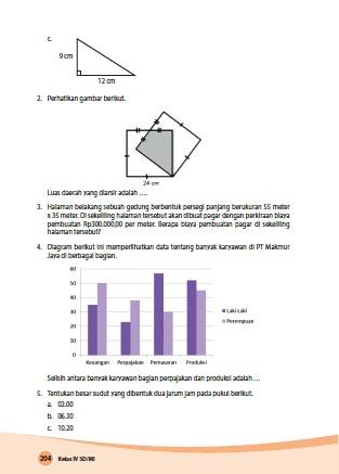 kunci jawaban senang belajar matematika kelas 4 kurikulum 2013 revisi 2018 halaman 204