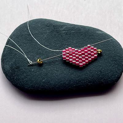 Finishing beadwork into jewelry by Lisa Yang Jewelry