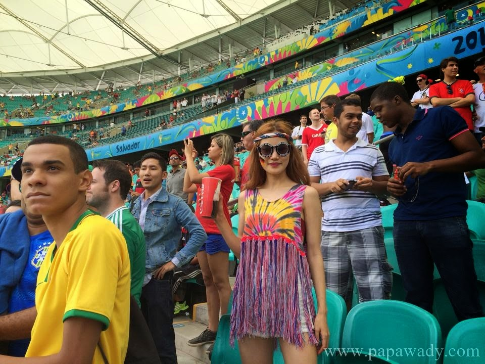 Myanmar Model Awn Seng in Brazil World Cup 2014