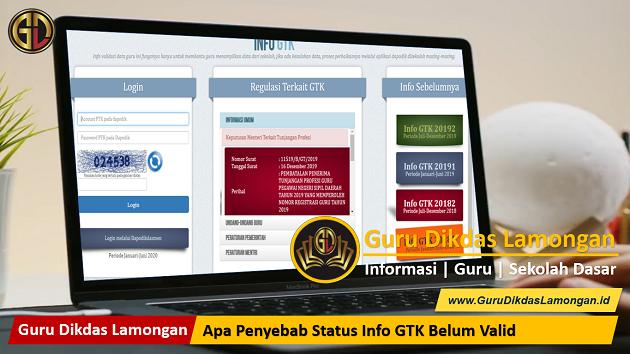 Apa Penyebab Status Info GTK Belum Valid
