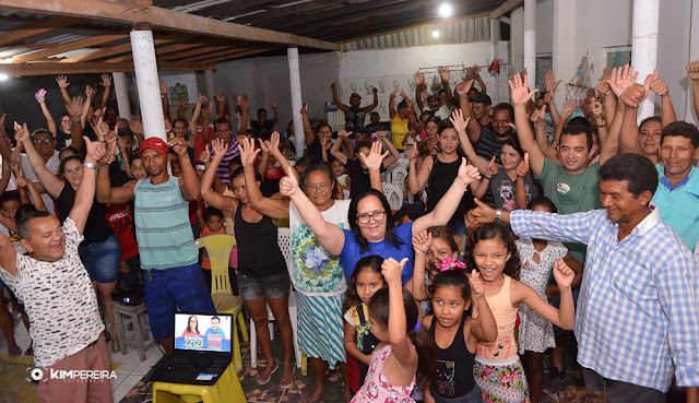 Em clima de festa Vila Nota 10 recebe a nova deputada estadual do Maranhão