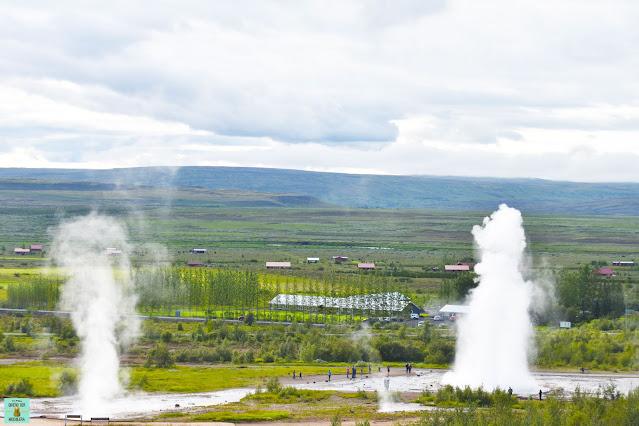 Geysir en el Círculo Dorado de Islandia