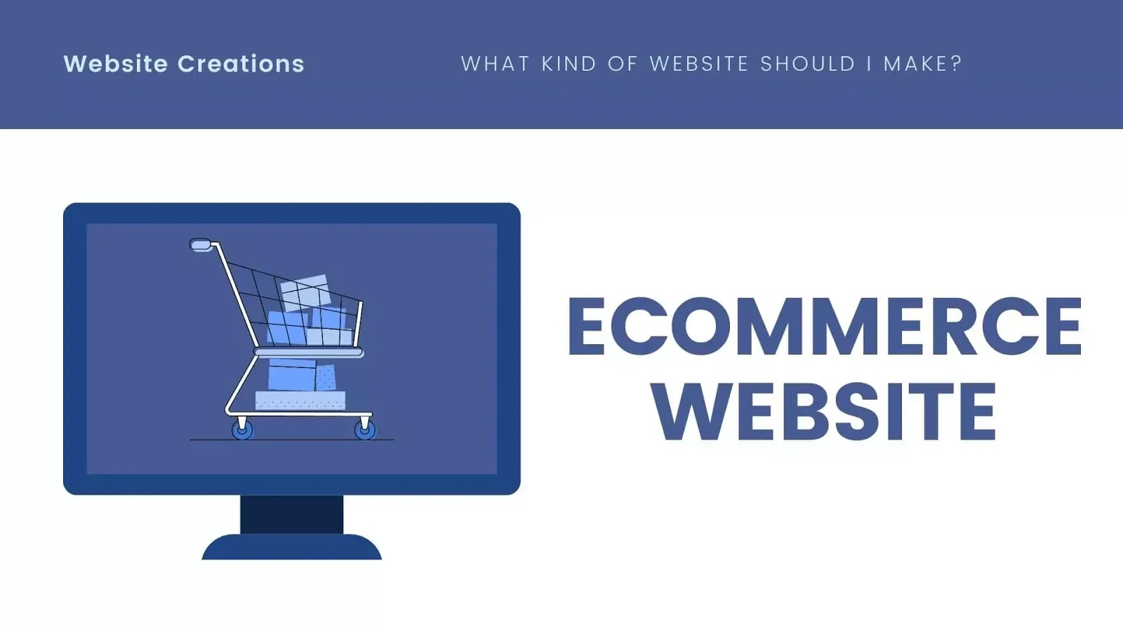 Creating an eCommerce website in website creation
