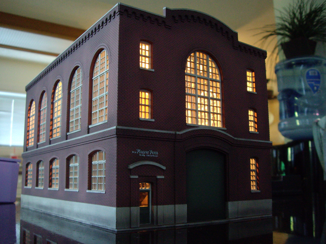 Completed Walthers Cornerstone Northern Light and Power kit with interior lighting effects