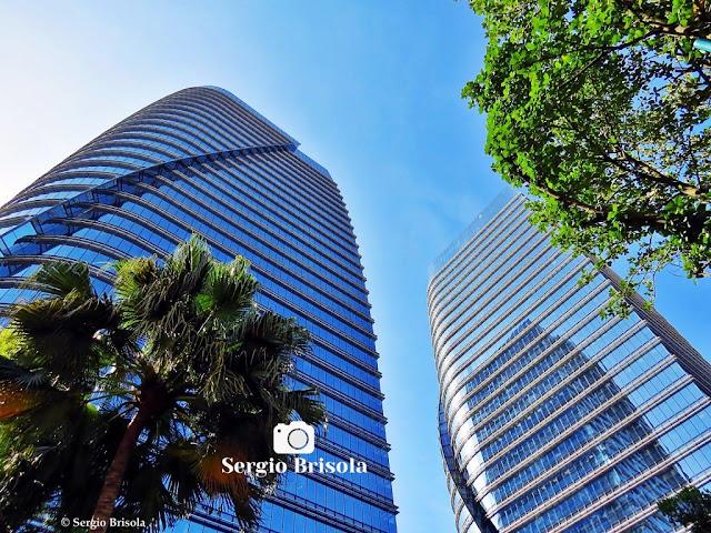 Fachadas em perspectiva das torres São Paulo Corporate Towers - Vila Olimpia - São Paulo